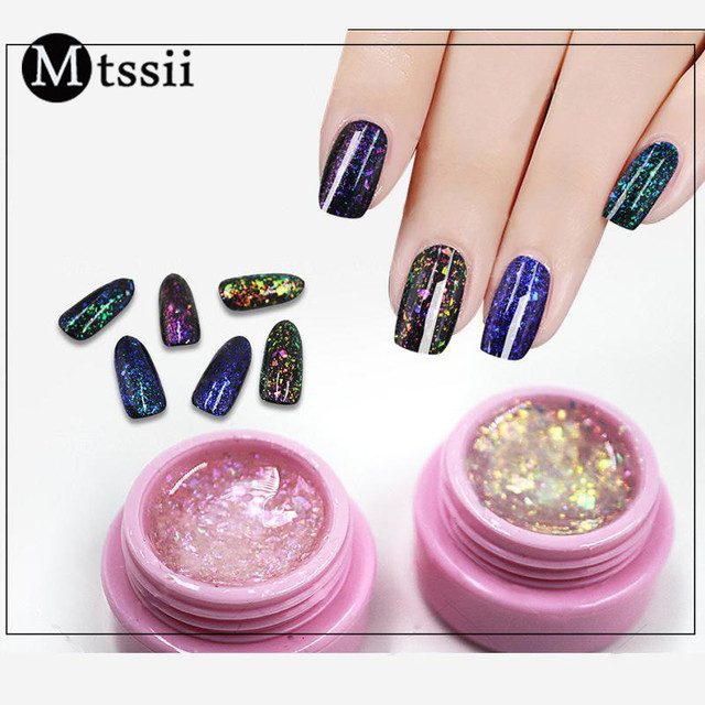 Mtssii 3ml Transparent Chameleon Glitter Sequins Gel Iridescent ...