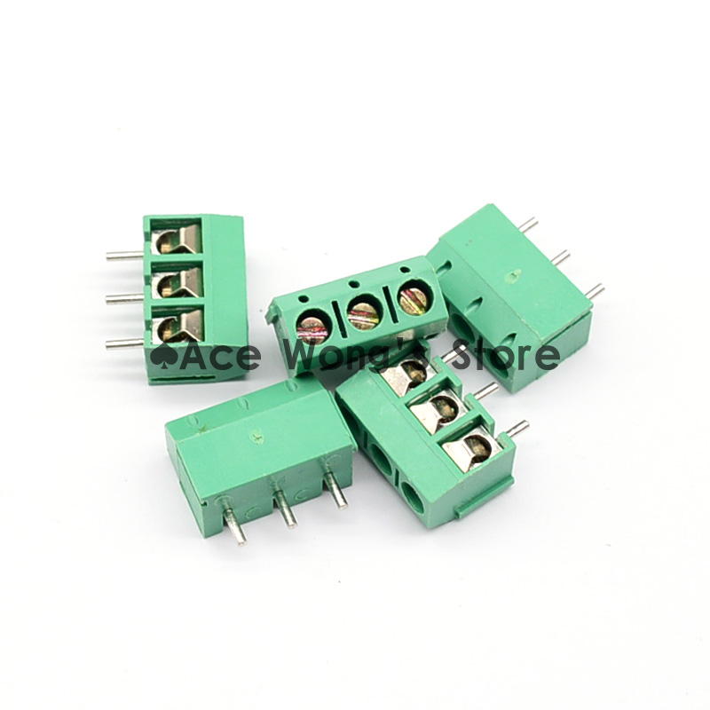 20pcs 2 Pole 5mm Pitch PCB Mount Screw TermInal Block 8A 250V LW SZUS