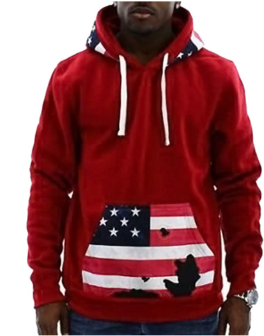 Aliexpress.com : Buy Men Hooded Sweatshirt 2017 USA Flag Printed ...