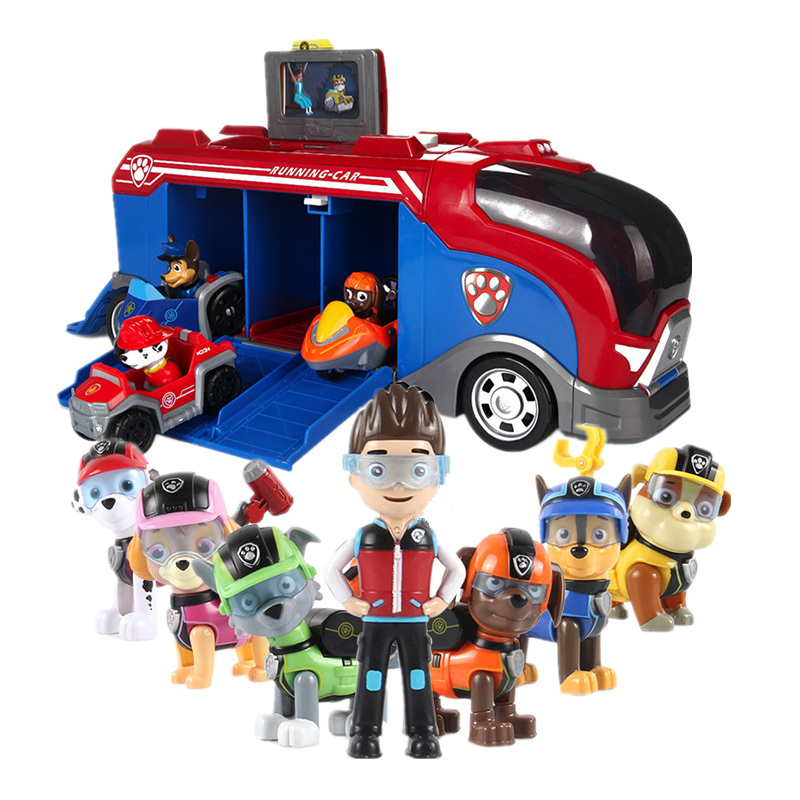 Paw Patrol Dog Toys Cars Sliding Team Big Truck Toys Music Rescue team Patrulla Canina Toys Action Figures Model Toys Kids G