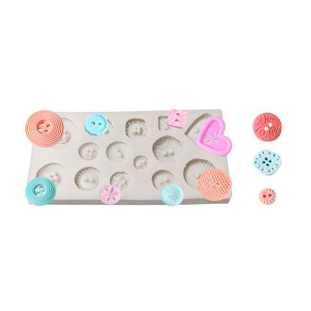 Button Shapes DIY Fondant Cake Silicone Mould Chocolate Cookie Ice Silicone Mold Candy Mold Cake Baking cake decorating tools