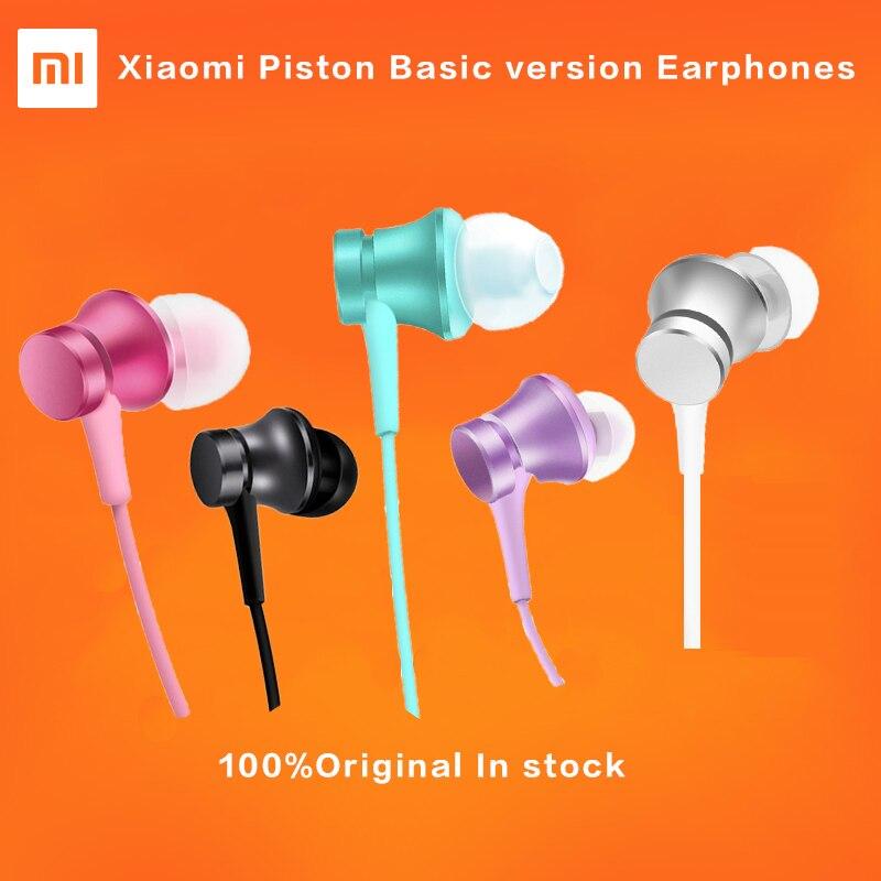Caliente original xiaomi pistón 3 auriculares colorida juventud edición 3.5mm 3rd Bass auricular versión básica auriculares con control remoto y MIC