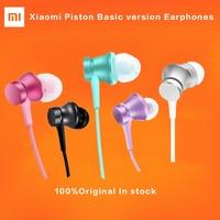 Newest Original Xiaomi Piston Basic Version Earphones 3 5mm Hearphones Flat Line Design Headset With Mic