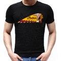 Estilo de La Vendimia del verano Camisetas de Manga Corta Camisetas Divertidas O-cuello de Movimiento Indian Motorcycle T-shirt de Algodón de Los Hombres Tops