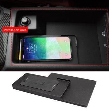 Car Phone Case | Car Qi Wireless Phone Charging Pad Module For A4L B9 A5 A6 C7 A7 2016-2018 Fast Charging Case Plate Central Console Storage Bo