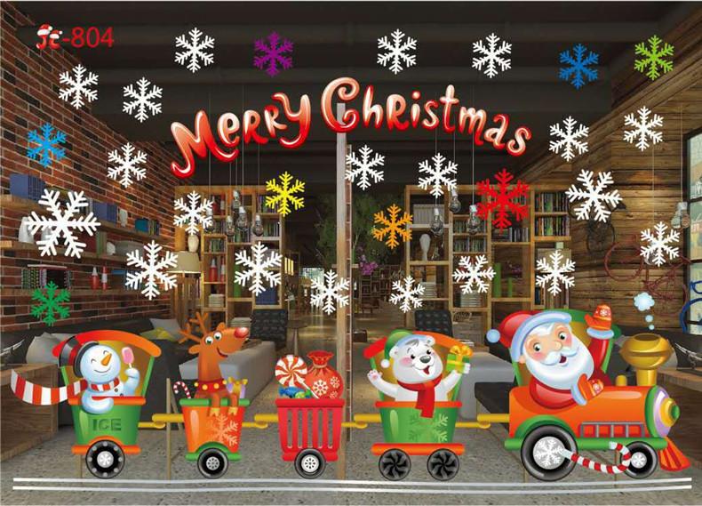 новогодние окна стекло пвх стены стикеры новогодние товары поделки снежный городок наклейки на стену главная наклейка новогодние украшения товары для дома и сада