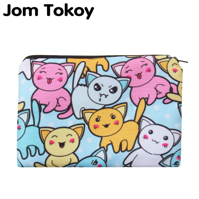 Cartoon Cats Portable Type Make Up Bags Cosmetic Case Maleta De Maquiagem Bags Storage Travel Makeup Bag Brand Pencil Case