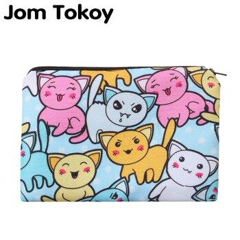 цена на Cartoon cats Portable Type Make up Bags Cosmetic Case Maleta de Maquiagem Bags Storage Travel Makeup Bag Brand Pencil case