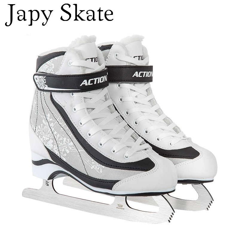 Prix pour Jus japy Patin À Glace Astuces Skate Chaussures Enfant Adulte En Cuir Patins À Glace Professionnel Fleur Couteau Hockey Sur Glace Couteau Réel Patins À Glace