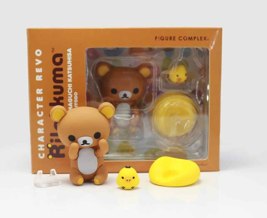 Gambar Kompleks Karakter Revoltech Rilakkuma PVC Action Figure Collectible Model Toy Doll 7 Cm Coklat/Pink