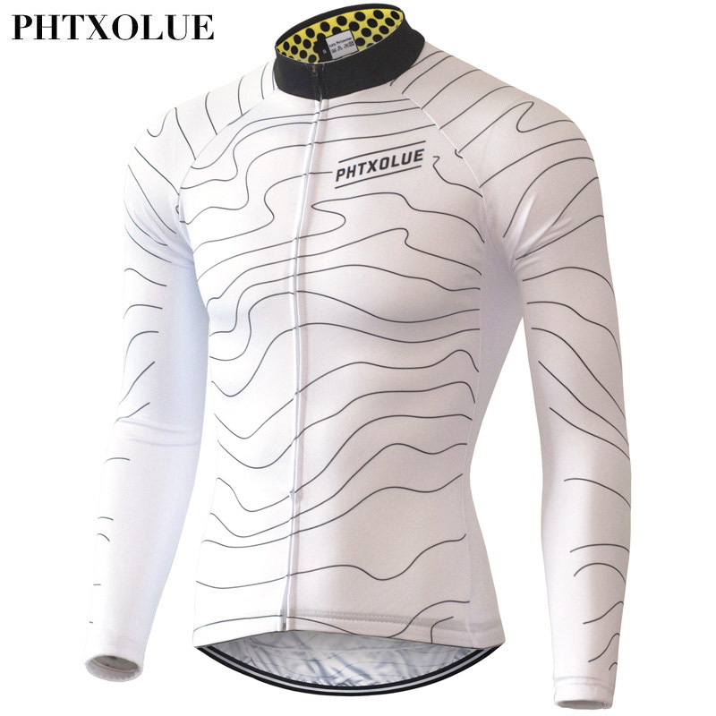 Phtxolue Winter Thermal Fleece Cycling Jersey Warm 2016 Pro Mtb Long Sleeve  Men Bike Wear Clothing Maillot QY064-in Cycling Jerseys from Sports ... c4c1f76de