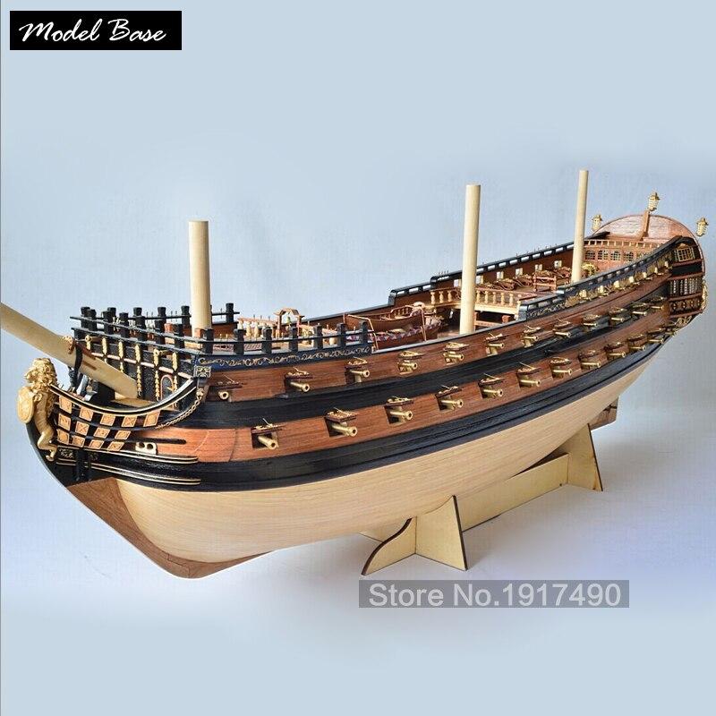 Деревянный корабль модели Kits3d лазерной масштаб 1/50 Модель корабль сборки новой версии Петра Великого флагманская модель корабля набор
