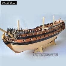Nave di legno Modelli Kits3d Tagliato Al Laser Scala 1/50 Model-Ship-Montaggio di Una Nuova Versione Di Pietro Il Grande Flagship Nave Set