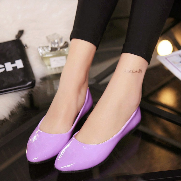 Women Shoes Slip On Womens Flats Shoes Loafers Faux Suede Womens Ballerina Flats Casual Comfort Ladies Shoes plus size 35 42