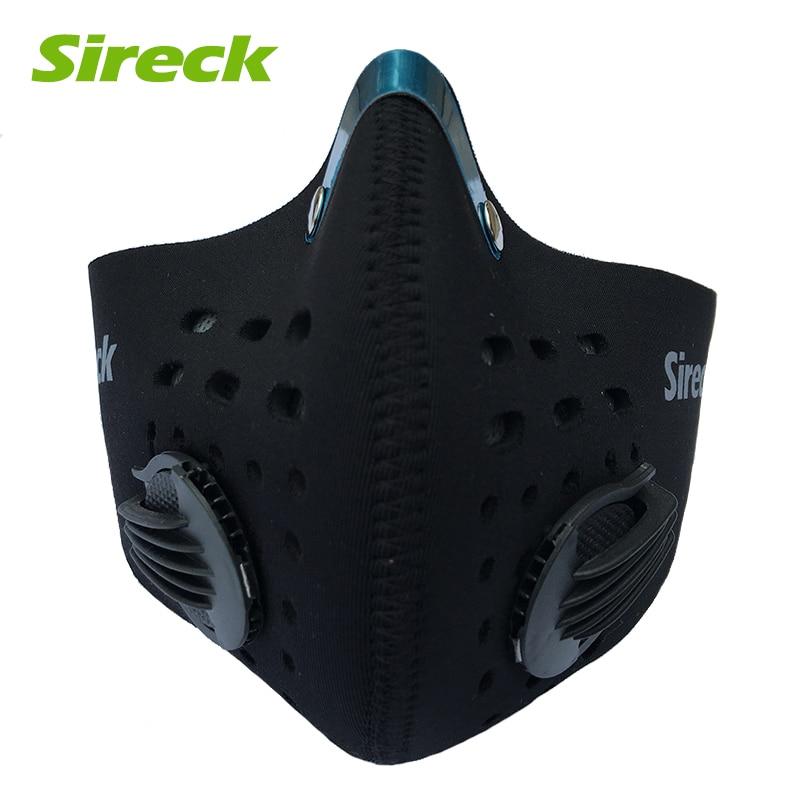 Sireck porvédő maszk aktivált szénszűrő edzés sport kerékpáros maszk a szmog futtatásához kerékpár fél arcmaszk kerék arcvédő