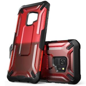 Image 5 - Pour Samsung Galaxy S9 étui support licorne Beetle série Premium hybride pochette de protection en polyuréthane thermoplastique + PC étui de protection transparent couverture arrière pour S9