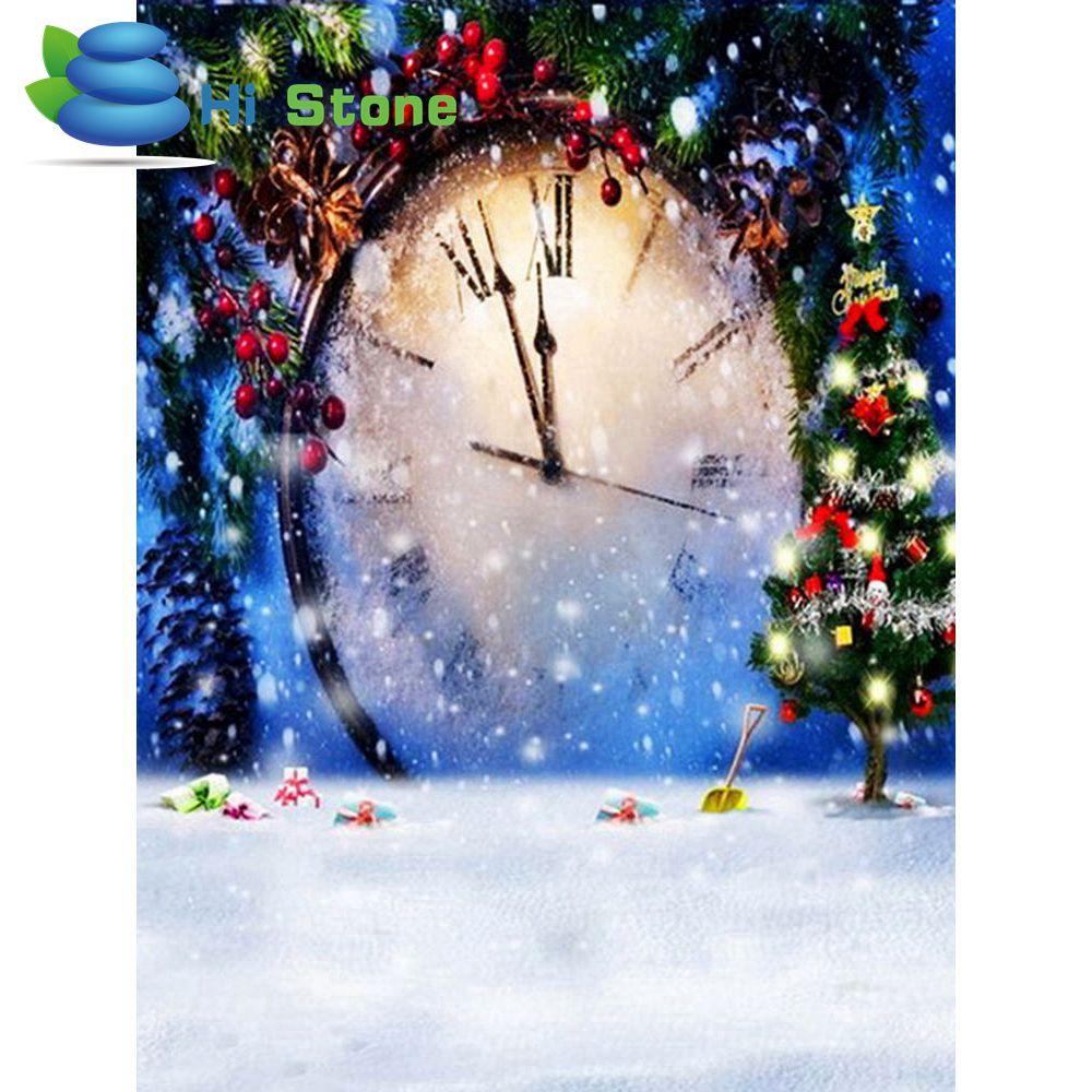 5D DIY алмазов картина Рождество часы вышивка полный квадратный алмаз крестом Мозаика Декор подарок