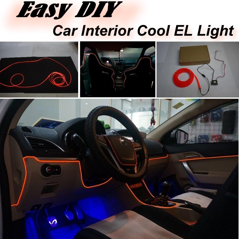 Auto Atmosphäre Licht Flexible Neon Licht EL Draht Innen Licht ...