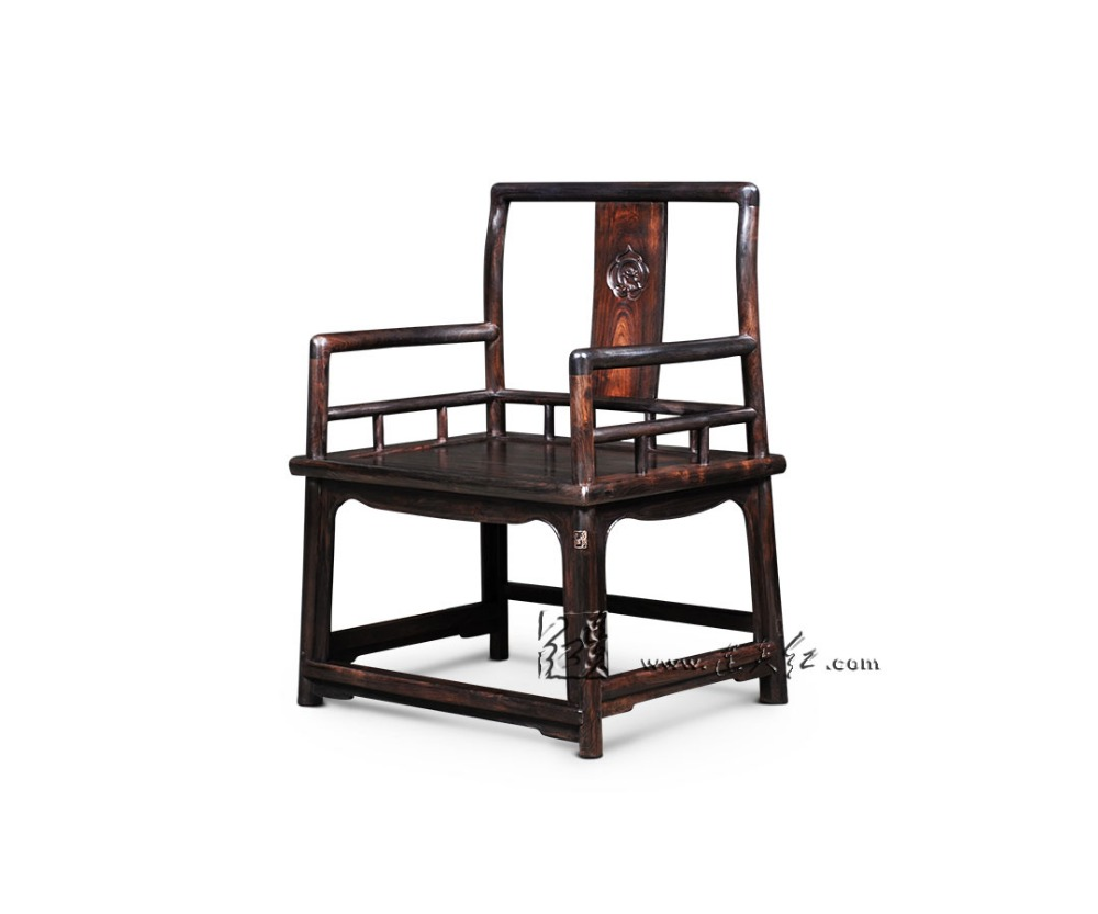 Southern Mandarin Chair with RuYi Pattern Solid Wood backed Armchair Office Coffee Dining Table Redwood Master chair Rosewood classical rosewood armchair backed china retro antique chair with handrails solid wood living dining room furniture factory set