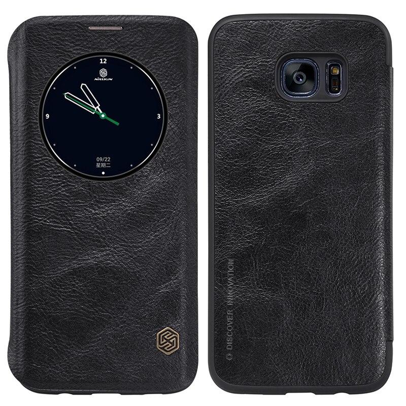 Nillkin Qin Fashion Echtes Leder Telefonkasten Für Samsung S7 Rand stoßfest Flip Abdeckung Für S7 Rand G935FD/G935/G935F