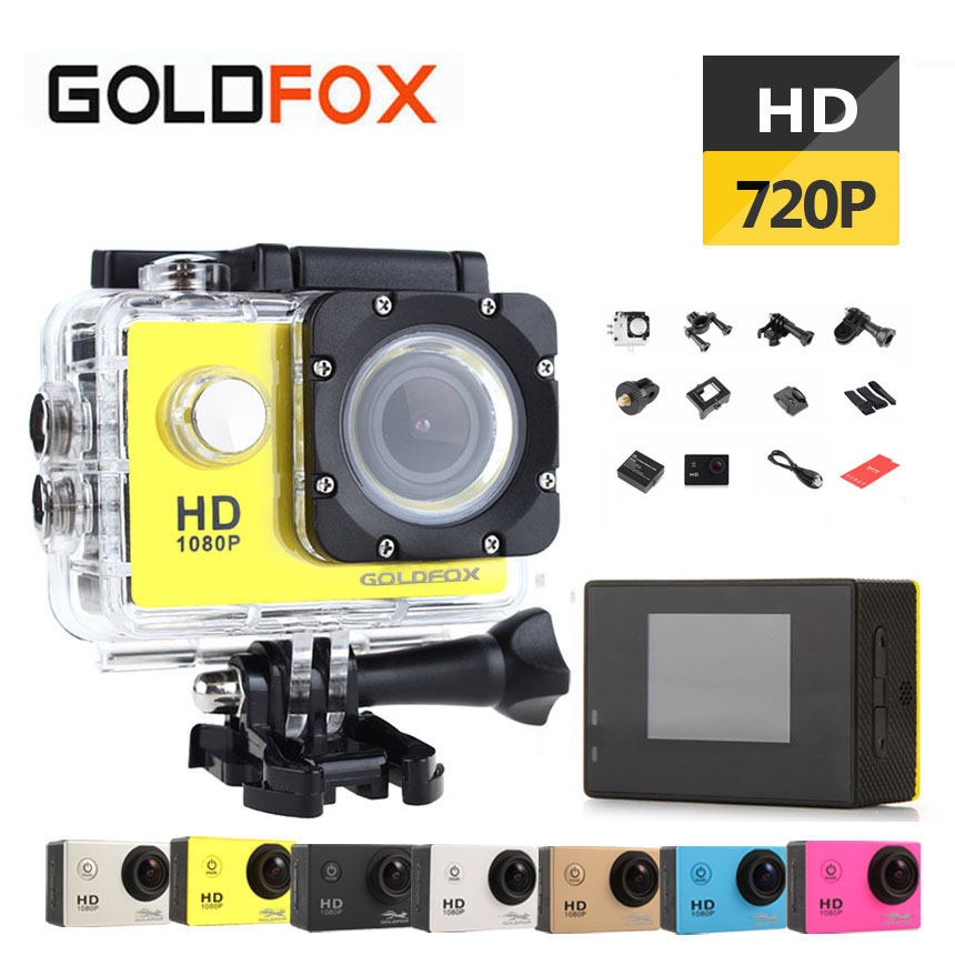 GoldFox SJ 4000 Outdoor Sport Action Camera 720P HD Mini Cam Go Waterproof Pro Bike Car Dvr Recorder With Retail Box