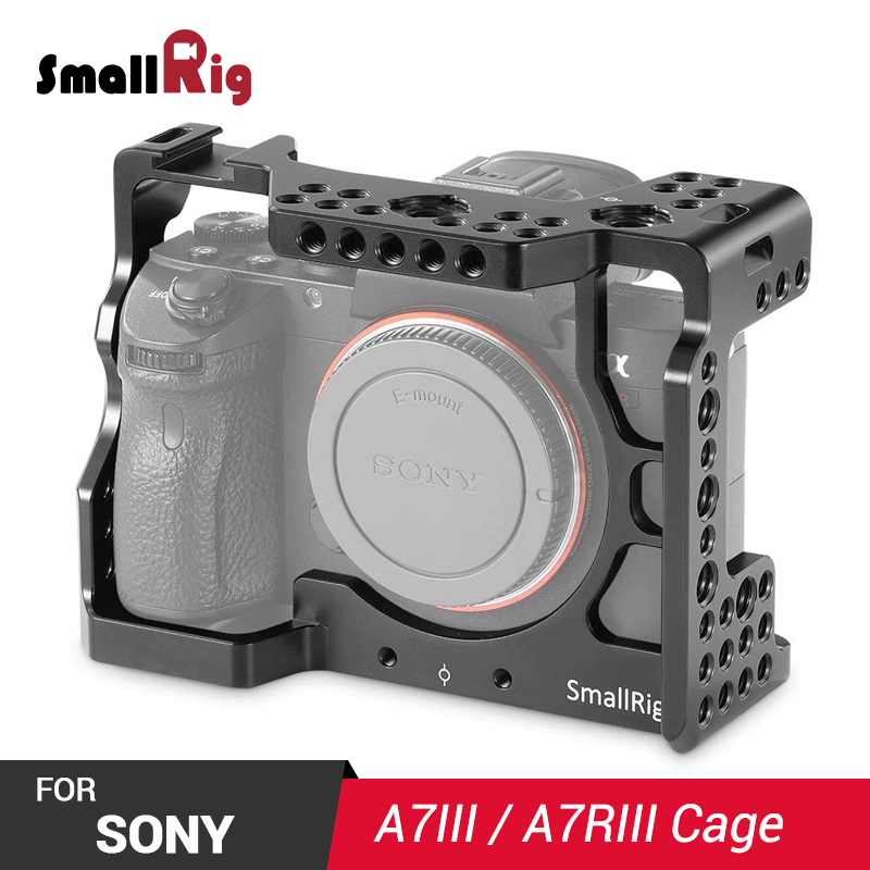 SmallRig A7 III Cage For Sony A7RIII / A7M3 / A7III With Arri Locating Holes 1/4 3/8 Thread Holes For DIY Options 2087