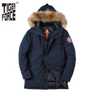 67496770265 TIGER FORCE Jacket Men Winter Coat Parkas Jackets