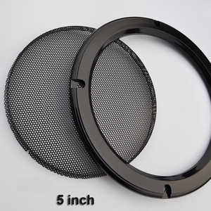 "Image 3 - ل 2 ""/4""/5 ""/6.5""/8 ""/10"" بوصة مكبر صوت سيارة تحويل صافي غطاء الزخرفية دائرة شبكة معدنية مصبغة # أسود"
