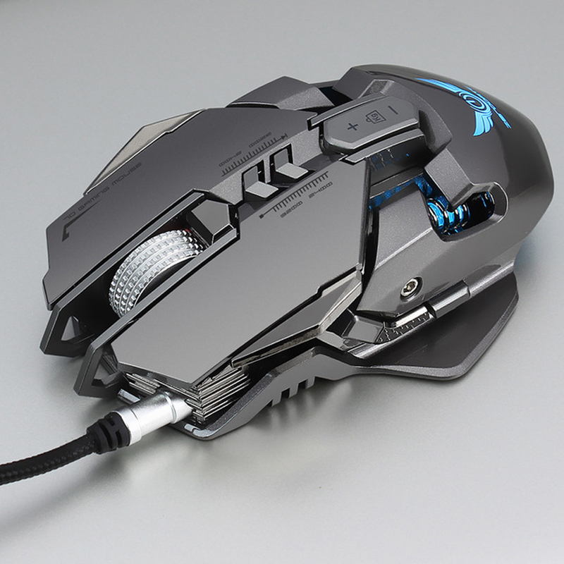 Zerodate X300GY Gaming Mouse 3200DPI 7 Button Programmable Mouse Gamer USB Wired Mechanical Macro Game Mouse For PC Computer-in Mice from Computer & Office
