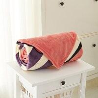 Mignon Arc Cravate Flanelle Couvre-lit Pour Lit 100% Polyester Rayures Polaire Couvertures Pour La Maison Literie Multi-taille Canapé Polaire couvertures