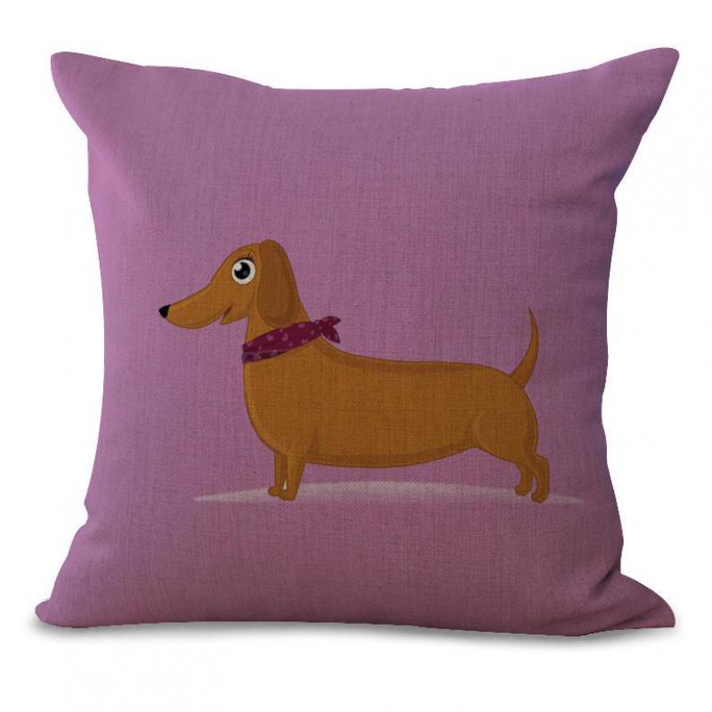 pequeo perro lindo de impresin de algodn de lino decorativo throw pillow hogar del sitio del beb de noche cojn de respaldo