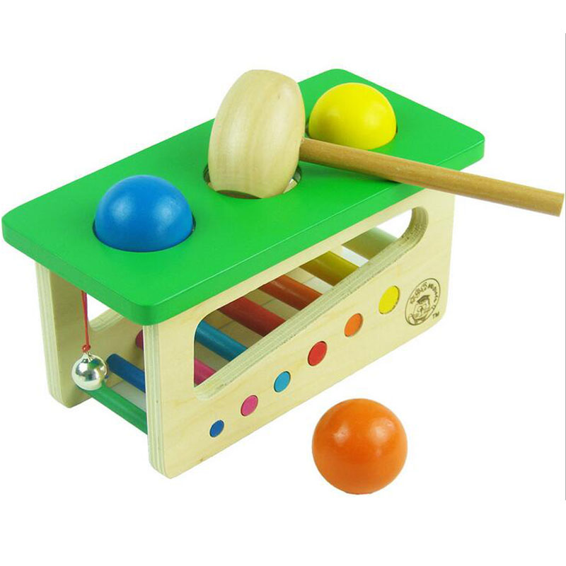Wooden Sound Knocks Beat Balls Montessori Educational Toy For Children Puzzle Oyuncak Baby Montessori Material Ping Pong Table