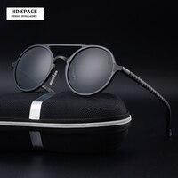 High Quality Men S Aluminum Magnesium Fashion Round Polarized Sunglasses Lunette De Soleil Homme Round Sunglasses