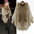 winter women cardigan with faux fur sweater women batwing sleeve Loose one size Sweaters Pull Femme SBK2-9