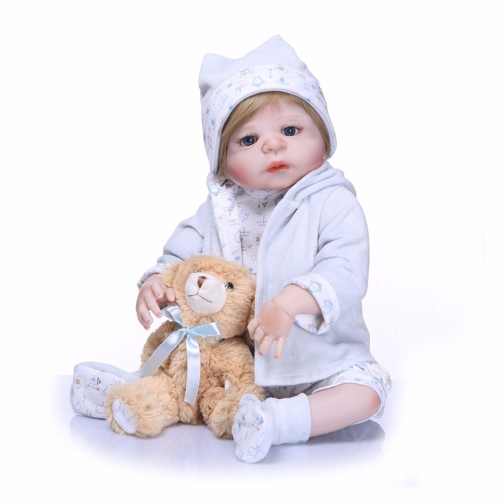 Bebes reborn baby boy doll toys 2357cm full vinyl silicone reborn baby dolls alive toddler girl doll can bathe gift Bebes reborn baby boy doll toys 2357cm full vinyl silicone reborn baby dolls alive toddler girl doll can bathe gift