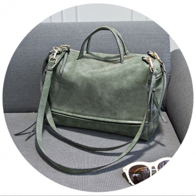 B0030 Fashion Female Shoulder Bag Nubuck Leather women handbag Vintage Messenger Bag Motorcycle Crossbody Bags Women Bag nubuck leather shoulder bags for women 2018 fashion handbag vintage crossbody bag motorcycle casual totes bag sac bolsa feminina