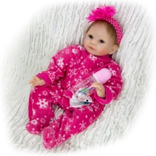 55CM fashion Girl Bebes Reborn Doll Silicone baby dolls toddler Toys For hot sale children gift 2019 alive newborn babies doll недорого