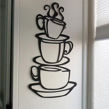 Removable Coffe wall sticker For Kitchen-Free Shipping For Kitchen tree wall decal