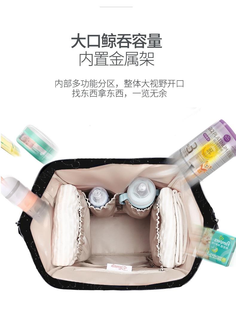 Disney Backpacks Mummy Bag Multifunction Large Capacity Double Shoulder Travel bags Baby Handbag Bottle Insulation Chair Bags