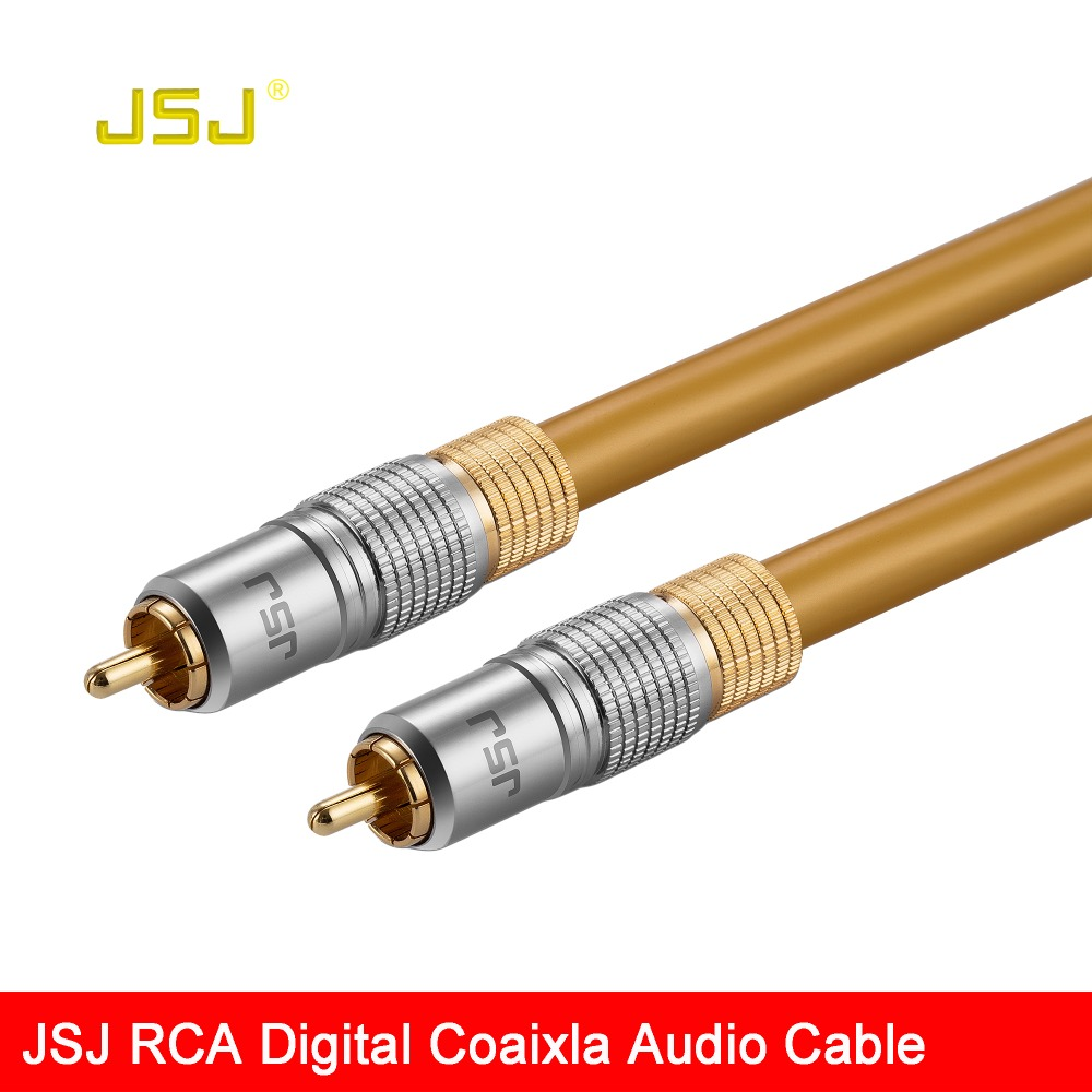 JSJ Luxury HIFI Subwoofer RCA Male to Male Coaxial Digital Audio Video Cable 75ohm ...