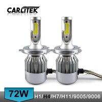 1 Set 72W 7600LM COB Chip C6 LED Headlight 36W 3800LM H1 H3 H4 H7 H8