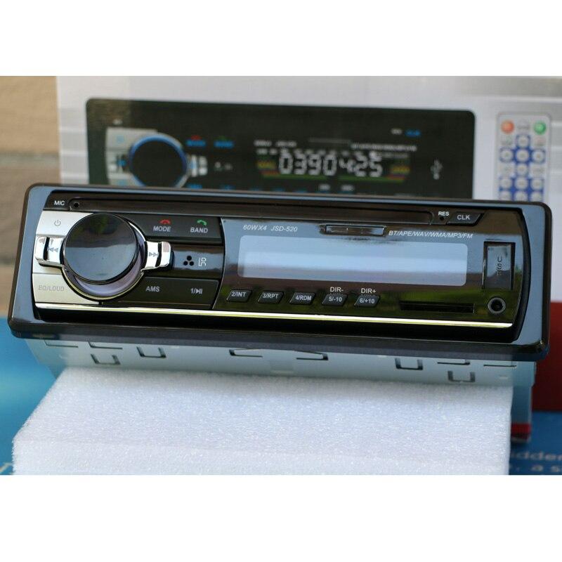 Новый 12V Bluetooth стерео радио MP3 аудио-плеер 5V зарядное устройство FM/USB/SD/AUX автомобильной электроники автомагнитола сабвуфер приборной панели 1...