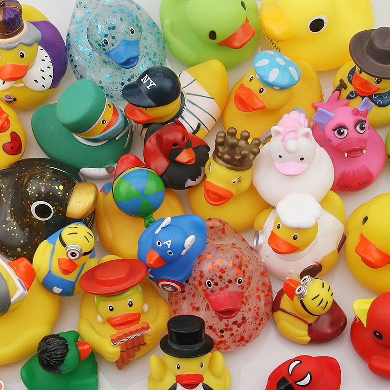 2019 Lovely Funny Baby Bath Toys Design Is Rich Soft Rubber Squeaky Ducky Animal Toy Safety Baby Bath Tub Toy