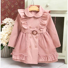 Baby Girls Windbreaker 2019 Spring Jackets For Girls Trench Coat Raincoat Kids O