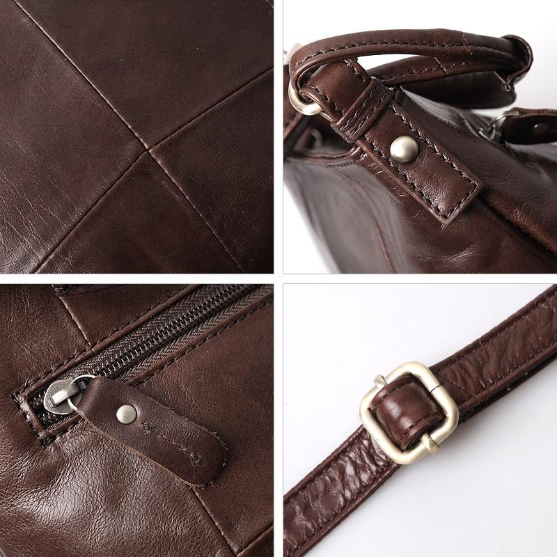 Image 5 - Cobbler Legend Vintage Bucket Handbags Women Shoulder Bag Genuine  Leather Women Totes Shopping Bag Brand Designer Purse FemaleTop-Handle  Bags