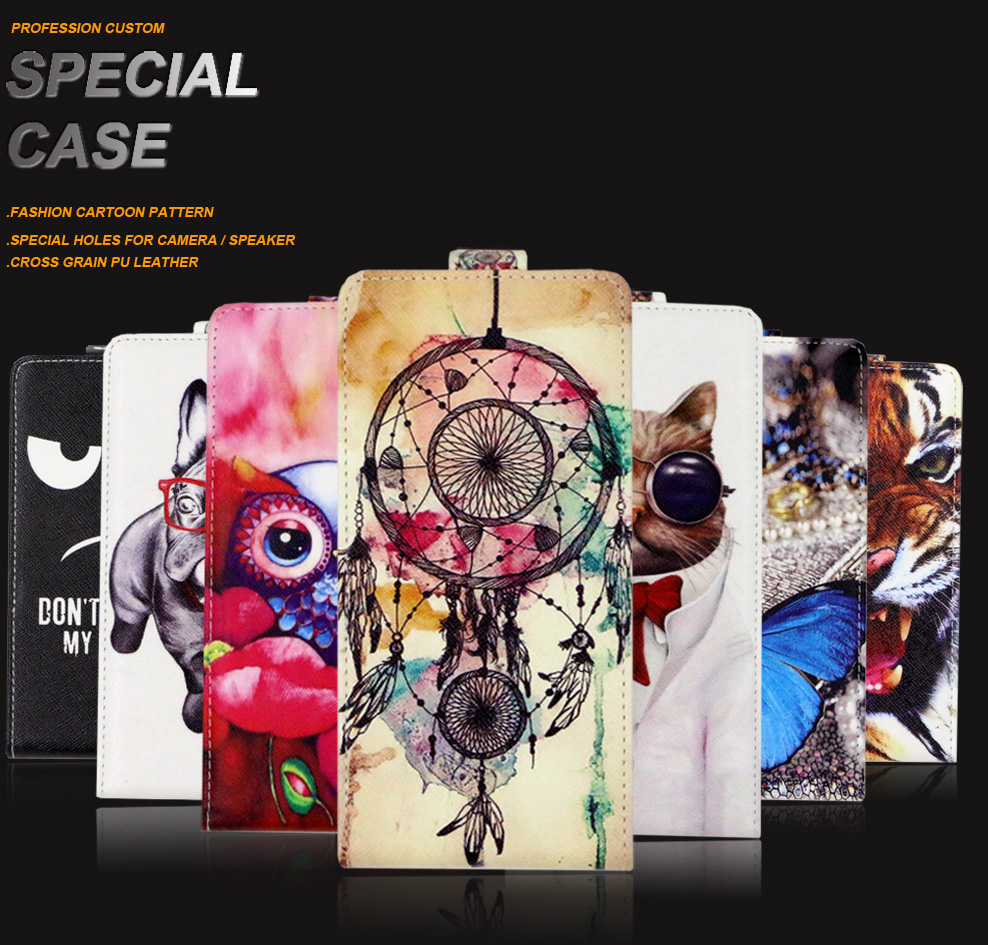 SONCASE case for BQ BQ 5012L Rich Flip back phone case 100% Special Lovely Cool cartoon pu leather case Cover