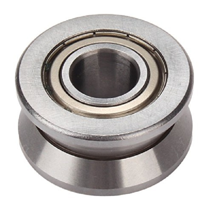 8x30x14mm Silver Steel Groove Ball Bearing Roller Guide