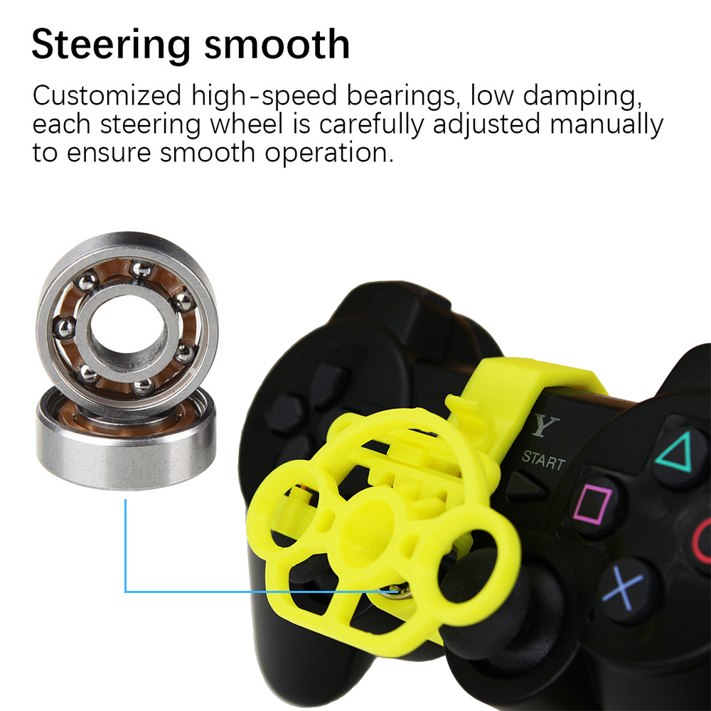Image 3 - PS3 Gaming Racing Wheel, 3D printed mini steering wheel add on for the PlayStation 3 controller-in Replacement Parts & Accessories from Consumer Electronics