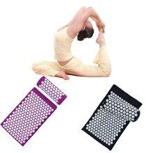 Body Massage Carpet Pillow Yoga Acupressure Massager Relief Stress Head Spike Mat Blue Purple Cushion