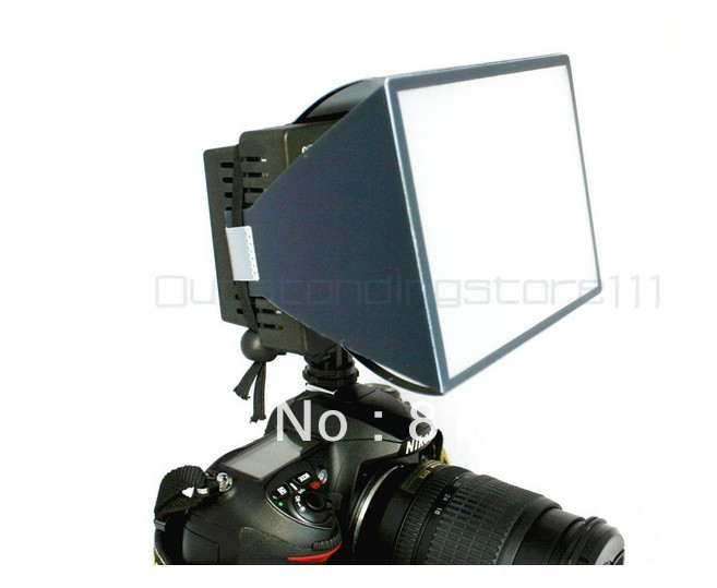 Video Light DV Camcord Universal Pop Up Flash Diffuser Softbox for Canon Nikon Pentax for CN-126 CN-160 HDV-Z96 W96 96 LED